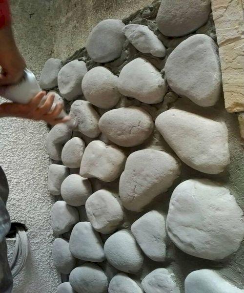 postavljanje dekorativnog kamena